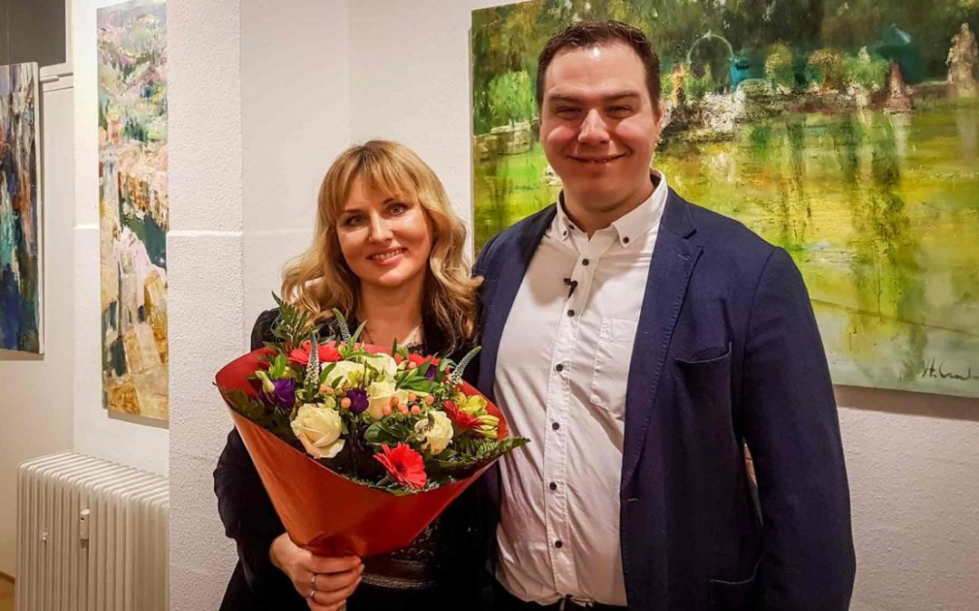 """Update 22.01.2020 – Photos of the VERNISSAGE and CONCERT: Natalia Simonenko presents """"A Song of Dreams"""" 