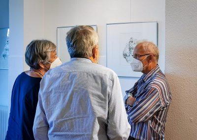 """Vernissage der Ausstellung """"Timing"""" von Ruth Tauchert 2021"""