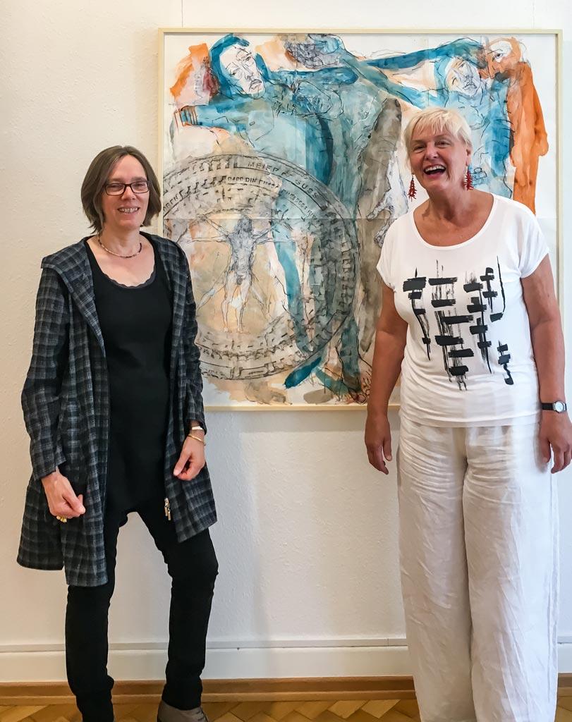 Foto mit Ruth Tauchert und Gabriele Paqué